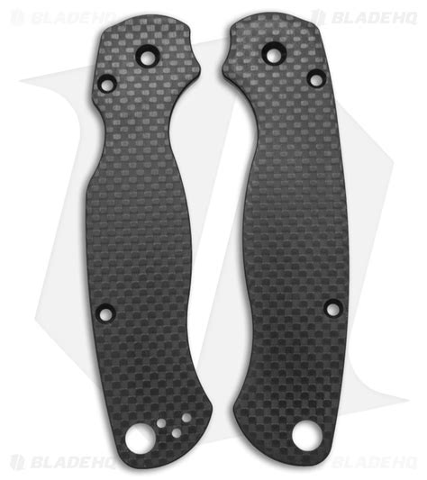 spyderco paramilitary 2 replacement scales flytanium custom carbon fiber scales for spyderco