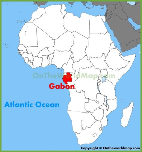 where is gabon on the world map gabon location on the africa map
