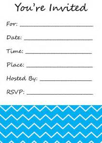you re invited fill in the blank invitation chevron print www teenytinyprintables etsy kid