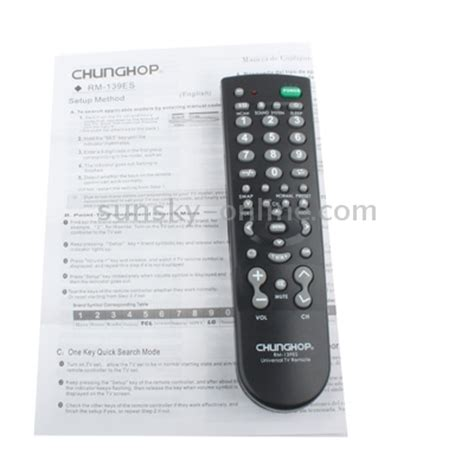 Chunghop Universal Tv Remote sunsky chunghop universal tv remote rm 139es black