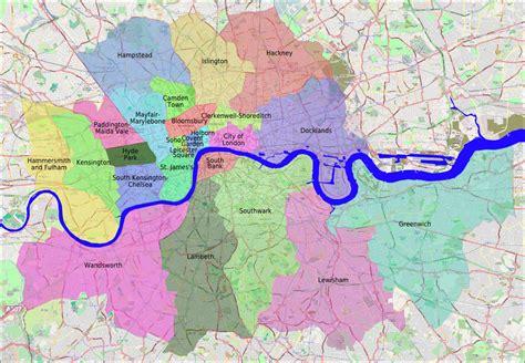 london sections map neighborhoods of london map deboomfotografie