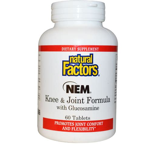 Nature S Health Joint Health 60 Tabs factors nem knee joint formula with glucosamine 60 tablets iherb