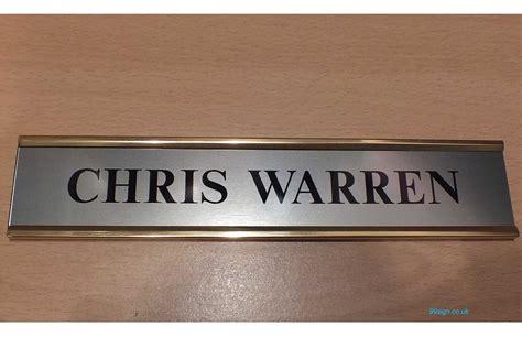 Door Plaques by Door Nameplate Made To Order Brushed Stainless Steel