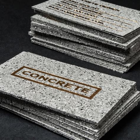 concrete business cards concrete style business cards with gold foiling
