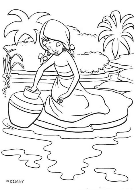 coloring page river shanti at the river coloring pages hellokids