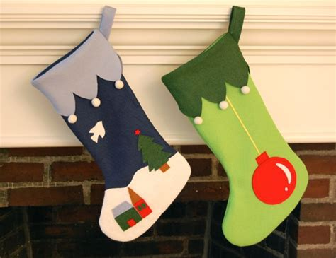 felt christmas stocking decoration templates whileshenaps
