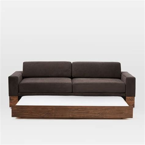 couch trundle emery sofa daybed trundle west elm