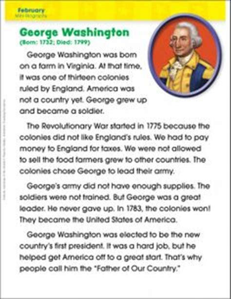 george washington biography for students 1000 images about president s day on pinterest