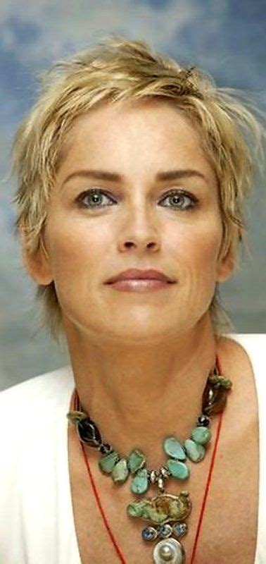 pics of sharon stones hair cut only print out front and back 252 best sharon stone images on pinterest sharon stone