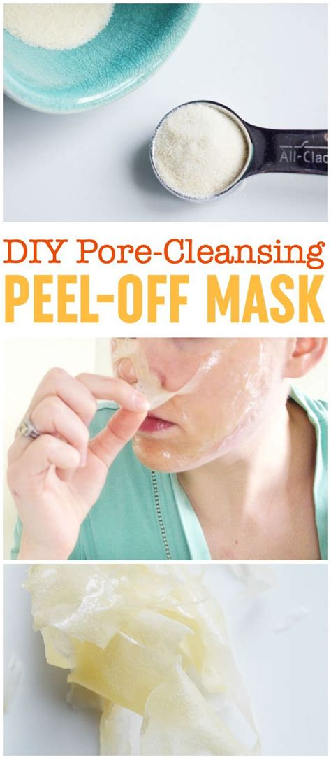How To Detox Your Pores by Diy Peel Mask Pore Cleansing Blackhead Busting
