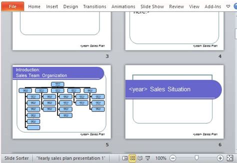 Yearly Sales Plan Templates For PowerPoint   PowerPoint