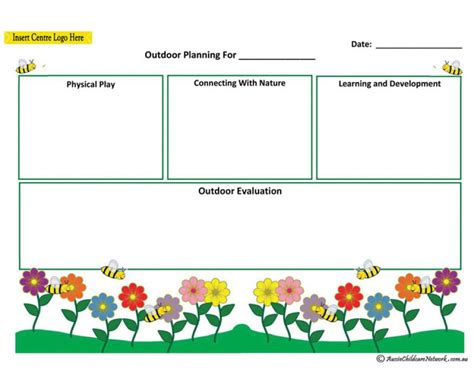 program plan template for child care outdoor plan aussie childcare network