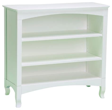 Emma White 3 Shelf Low Bookcase Contemporary Bookcases 3 Shelf White Bookcase