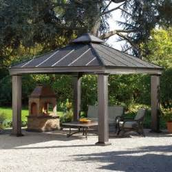 Patio Gazebo Costco Costco Sunjoy 12 Ft X 12 Ft Royal Square Hardtop Gazebo Food Covered Patios