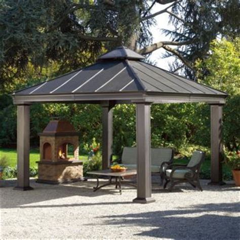 royal hardtop gazebo costco sunjoy 12 ft x 12 ft royal square hardtop gazebo