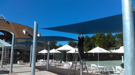 Retractable Awnings Ct Phase 1 At The Tokeneke Beach And Tennis Club In Darien Ct
