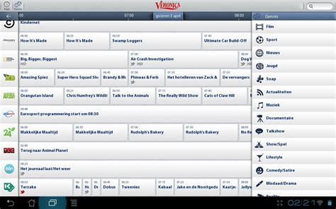 gratis tv gids android tablet app review 3 tv gids applicaties tablet