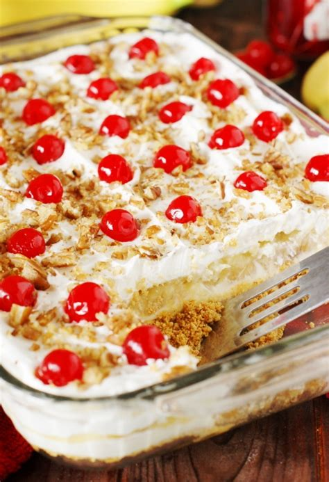 No Bake Banana Split Cake No Bake Banana Split Cake The Kitchen Is My Playground