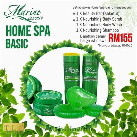 Lulanjina Bamboo Salt Hijau Murah marine essence spa series scrub garam buluh viral olin safura