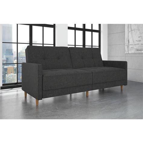 home depot futon dorel juvenile andora coil twin double size gray linen