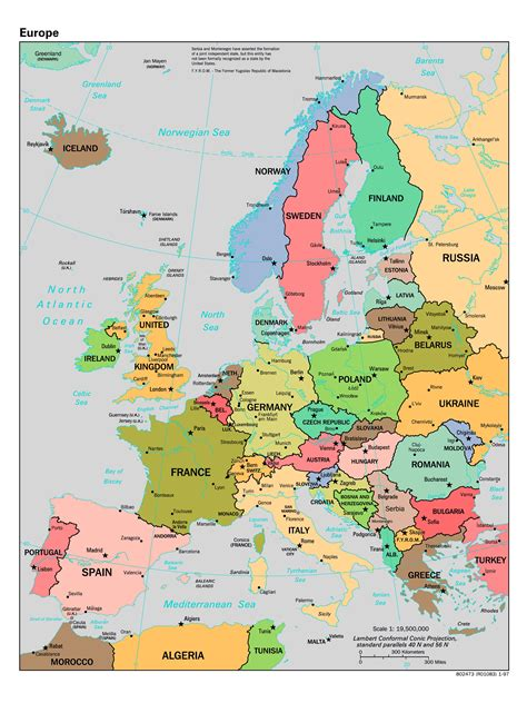 map or europe maps of europe and european countries political maps