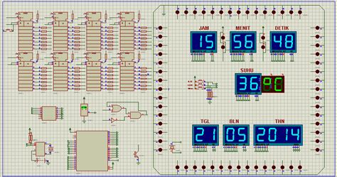 membuat jam digital dengan gerbang logika membuat jam digital dilengkapi dengan thermometer www