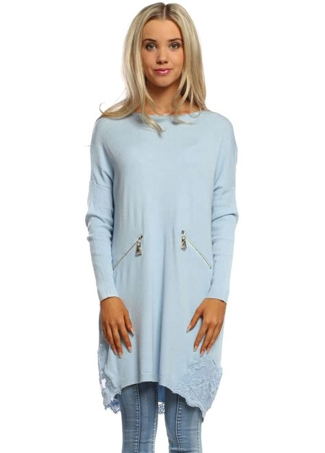 Leticia Tunic laetitia mem jumper baby blue lace tunic jumper