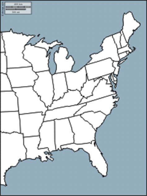 united states map east coast outline east coast of the united states free map free blank map