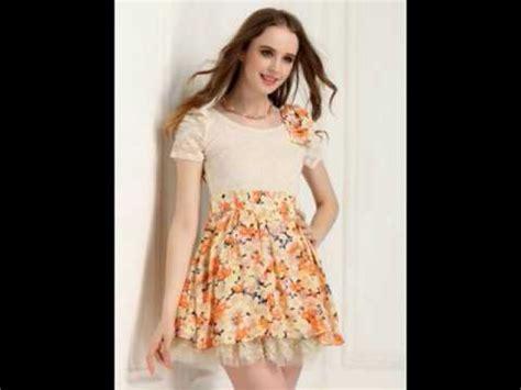 Baju Dress Stylish model baju brokat lengan pendek stylish dan modis