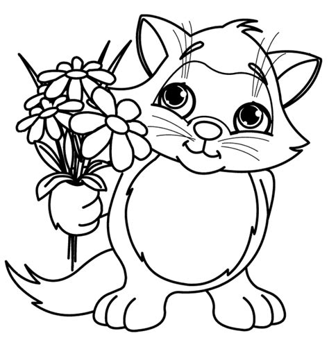 cute coloring pages of roses cute cat coloring pages coloring home