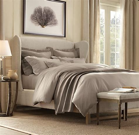restoration hardware upholstered bed french wing upholstered bed maxwell s daily find 03 17 11 apartment therapy