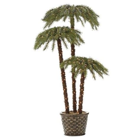 lighted trees lowes lighted palm living 6 potted caribbean palms