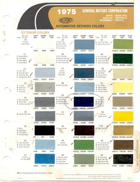2013 gm color codes chevrolet paint cross reference autos post