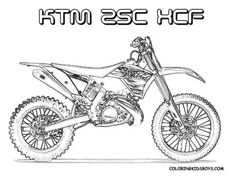 Motocross Coloring Pages fierce rider dirt bike coloring dirtbikes free