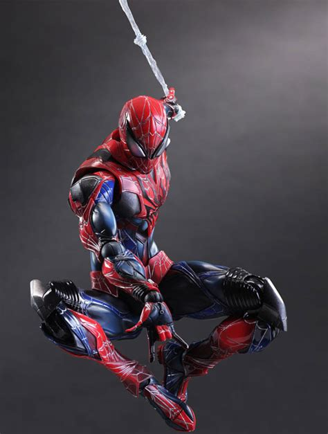 spider man web swing play arts kai spider man figure photos order info