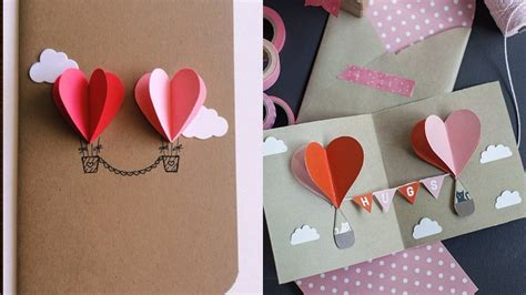 Steps To Make Handmade Cards - 3d valentines handmade card how to make s card