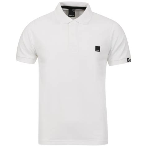 bench shirts for men bench men s resting polo shirt white clothing zavvi com