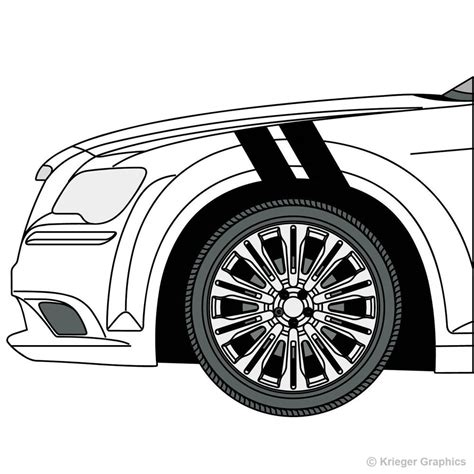 chrysler 300 decals chrysler 300 hash stripes grand sport fender bar