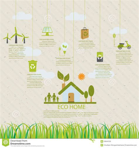 home eco infographic stock vector image of environmental