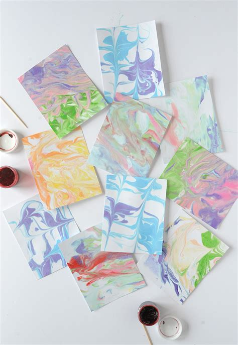 How To Make Marbled Paper - diy marbled paper a craft in your day