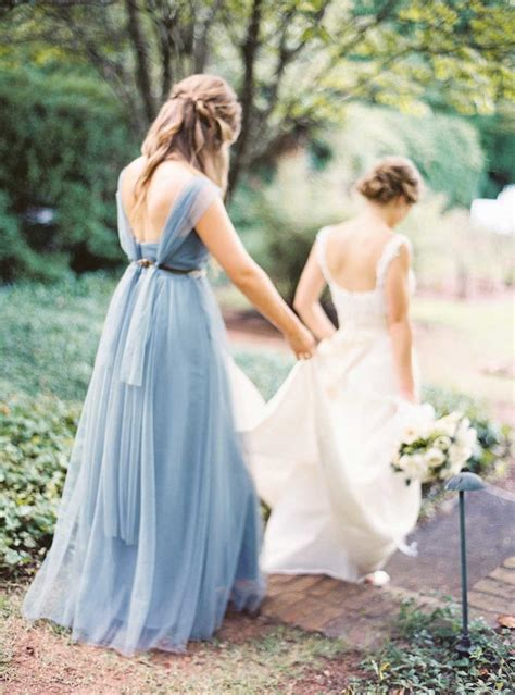 Dress Anabel Ky charming wedding with dusty blue details