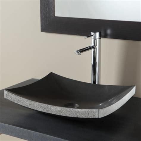 vasques a poser noir vasque en rectangulaire