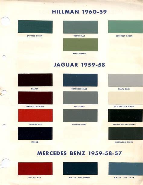 jaguars colors jaguar mk2 paint colour chart jaguar jaguar colors