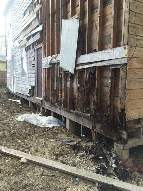Foundation Repair   Historic Pier & Beam Home   Back of