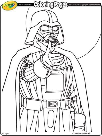 Star Wars Darth Vader Coloring Page Crayola Com Darth Vader Coloring Page
