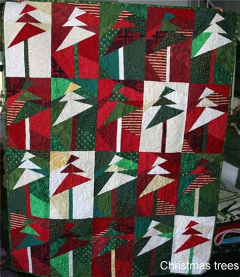 christmas trees paper pieced hand crafted quilt dd s