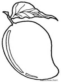 Mewarnai buah mangga mewarnai gambar