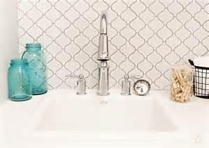 Turquoise Backsplash Home Depot Arabesque Tile Contemporary Bathroom Utah