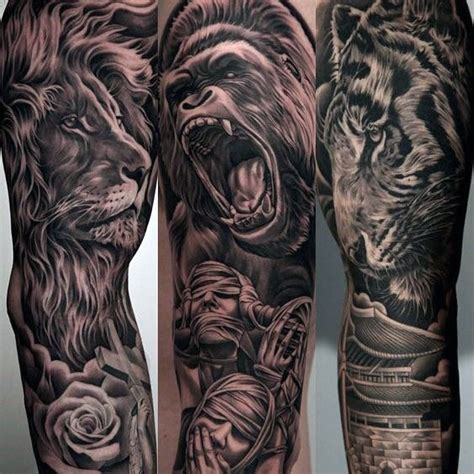 lion tattoo sleeve designs 60 sleeve designs for masculine ideas