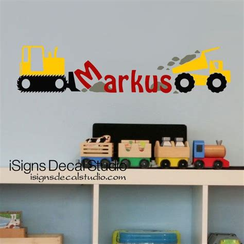 boys room wall decals best 25 boys construction room ideas on construction crafts footprint tractor and
